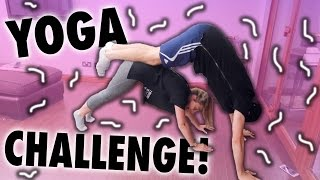 YOGA CHALLENGE WITH MY BROTHER?!