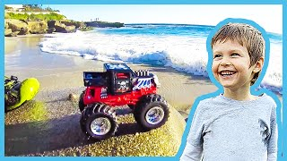 Toy Monster Truck Lost at Sea