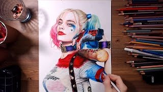 Suicide Squad : Harley Quinn (Margot Robbie) - Speed drawing