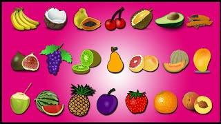Fruits Song | Learn Fruits Names| Educational Video | Kindergarten Preschool Game