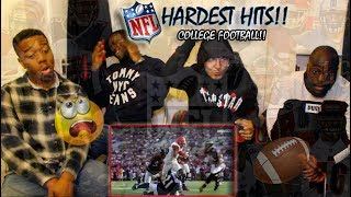 BRITISH BOYS REACT TO COLLEGE FOOTBALL!! - NFL HARDEST HITS 2