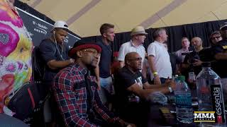 Floyd Mayweather Grand Arrivals Media Scrum – MMA Fighting