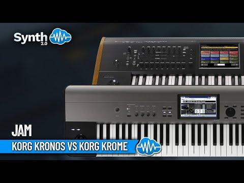 Korg Krome Demo part 1 vs kronos Motif xf6 performed by S4K Space4Keys Keyboard Solo