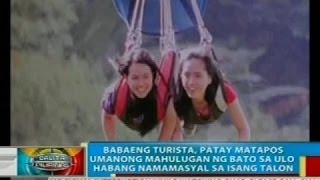 Babaeng turista, patay matapos umanong mahulugan ng bato sa ulo habang namamasyal sa South Cotabato