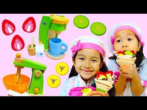 おままごと♡美味しいクレープを作ろう!ごっこ遊び・おもちゃ・Hape himawari-CH