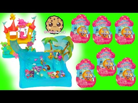 Splashlings Surprise Blind Bags & Mermaids Swim In Water with My Little Pony Toy Video