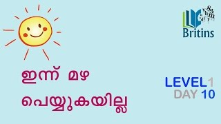 Spoken English in Malayalam- Level 1, Day 10