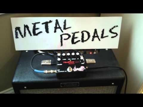 Metal Pedals Hard Core xxx distortion pedal demo hi gain pedal www.metalpedals.com