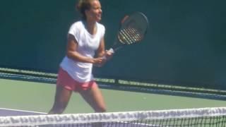 Bara Strycova and Sania Mirza Practice 3-30-17 Miami Open