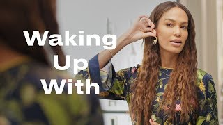 Supermodel Joan Smalls Reveals Her Must-Have Morning Beauty Secret | Waking Up With | ELLE