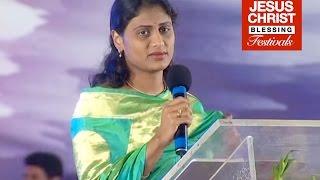 Y.S.Sharmila Reddy - Gospel Message at Vijayawada Meetings (JCBF2009)