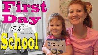 First Day of School - Abeka Preschool Bible Curriculum