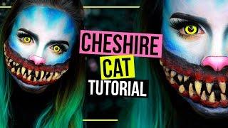 HORROR GRINSEKATZE - CHESHIRE CAT - Halloween Makeup Tutorial SFX | #spooktober