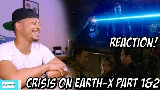 CRISIS ON EARTH X EPISODE 1 & 2 REACTION! SUPERGIRL | FLASH | ARROW  | LEGENDS CROSSOVER