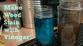 Make wood stain with vinegar DIY home made wood stains