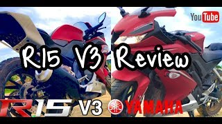 YAMAHA R15 V3 Red Edition Review 2017 / 4K Video ✅
