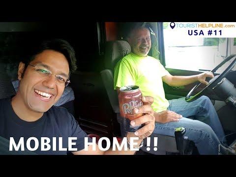 TV FRIDGE MICROWAVE AC IN A TRUCK American Trucker s lavish life