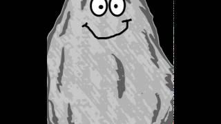 La piedra esta feliz
