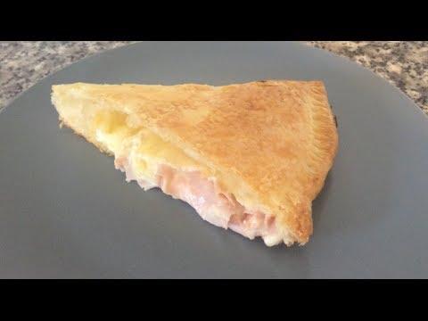 Receta Empanada de hojaldre con jamón y queso