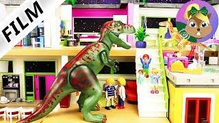 بلايموبيل ديناصور فيلم | الديناصور تي ركس في فيلا عائلة الطيورالعملاقة | عائلة الطيور