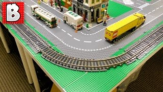 How To Build A Huge Lego Train Track for a Lego City!