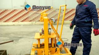 Movable manual concrete block making machine QT40-3C from 21 years Brick machine factory