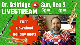 Livestream Dec 9 -  FREE Holiday Duets Sheet Music Download