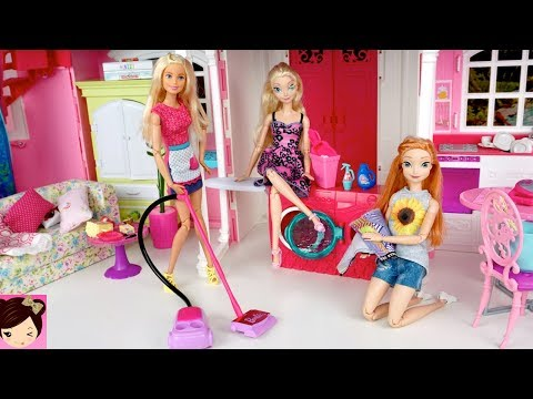 Xxx Mp4 Barbie House Cleaning Morning Routine Frozen Queen Elsa Anna Pink Bathroom 3gp Sex
