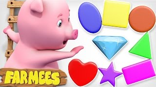 The Shape Song | Learn Shapes with Farmees | Nursery Rhymes | Kids Songs