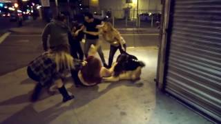 WorldStar Girls rip clothes off and pull hair in catfight video on US street