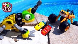 Disney Cars, Blaze, Monster Trucks in the pool CARS HYDRO WHEELS TaTaToys