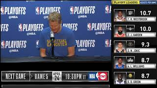 Steve Kerr postgame reaction | Warriors vs Clippers Game 4 | 2019 NBA Playoffs