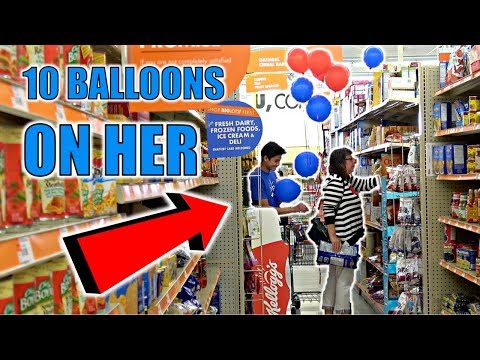 PINNING BALLOONS TO STRANGERS CHALLENGE KNIFE PULLED