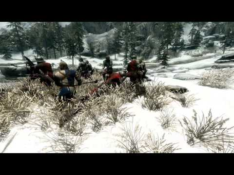 Battle For Helgen Skyrim NPC War