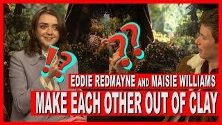 Eddie Redmayne OFFENDS Maisie Williams in our clay challenge