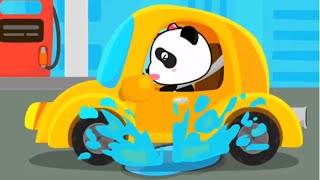 Baby Panda Play & Learn New Words | Animated Stickers - Vehicle Themes | Babybus Kids Games