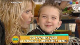 ¡Nazarena Vélez con Thiago  en Morfi, todos a la mesa!