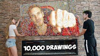 10,000 Artists Draw Pewdiepie
