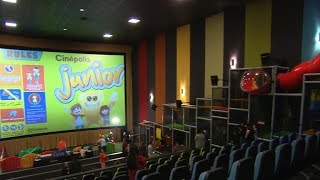 Movie theater offers playground for kids