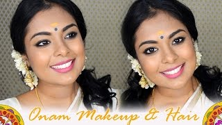 Onam Get Ready With Me -Traditional Kerala Makeup & Hair inspired by Nayanthara, Kavya Madhavan,Asin