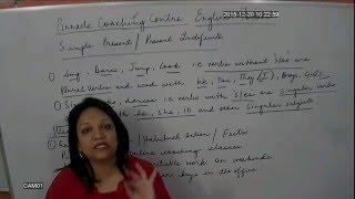 English Grammar : Tenses : Present Tense video lecture by Neeru Madam Pinnacle SSC CGL Coaching