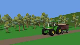 Fairy Tractors for Kids | Tractors Compilation Part 3 | Bajki Animacje Traktory od Bazylland cz.3