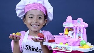 mainan anak perempuan masak masakan - kitchen play set, cooking toys for kids