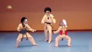 انیمیشن خنده دار و شاد خامنه ای روحانی جنتی