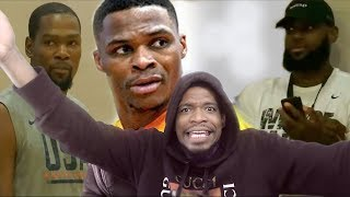 WOW NOBODY INVITED ME!? DURANT, WESTBROOK, HARDEN, w/ LEBRON WATCHING AT RICO HINES!