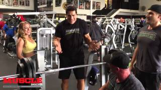 Lou Ferrigno trains his son Lou Jr and Chris Minnes
