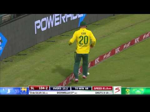 South Africa vs Sri Lanka - 3rd T20  - SL Innings Highlights