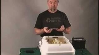 Chicken Egg Hatching Incubator Hova Bator Genesis Model 1588 GQF, Battery Backup System