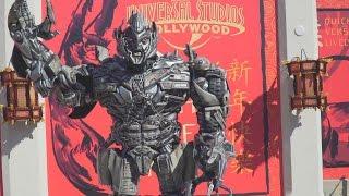Mandarin-Speaking Megatron at Universal Studios Hollywood - Lunar New Year 2016