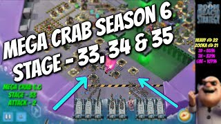 Boom Beach - Mega Crab 6.0 - Stage 33, 34, 35 - Easy Attack Strategy - May 2017